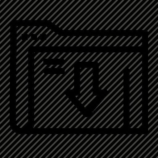 data, download, folder, server icon