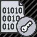encrypt, file, files, binary, key icon