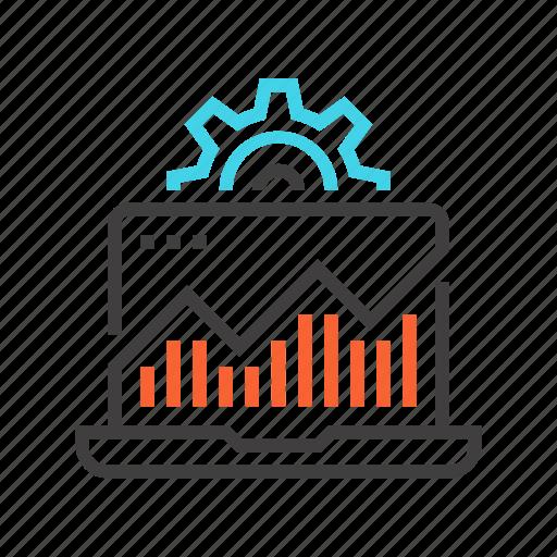 analysis, analytics, management, monitoring, system icon