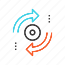 arrow, arrows, direction, refresh, reload, sync, update icon