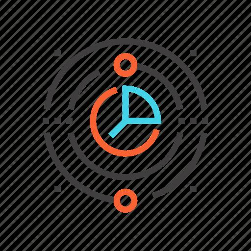analytics, data, database, dig data, graph, management, server icon