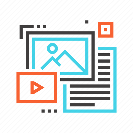 data, document, file, image, photo, unstructured, video icon