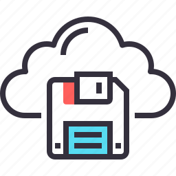 cloud, computing, data, internet, network, save, storage icon