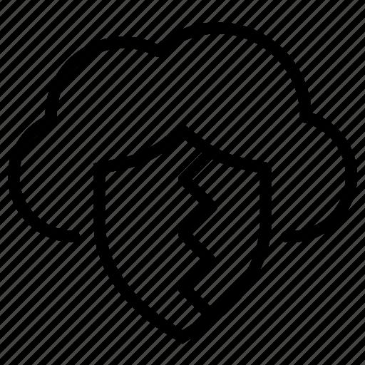 data breach, database protection, database security, locked database, secured data, secured transaction icon