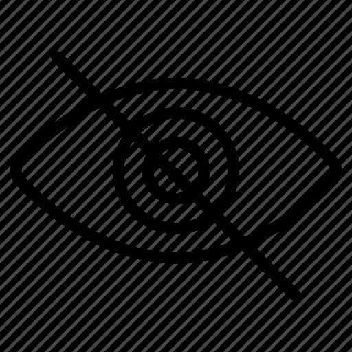 block, data protection, eye, hidden, hide, hide data, unlook icon