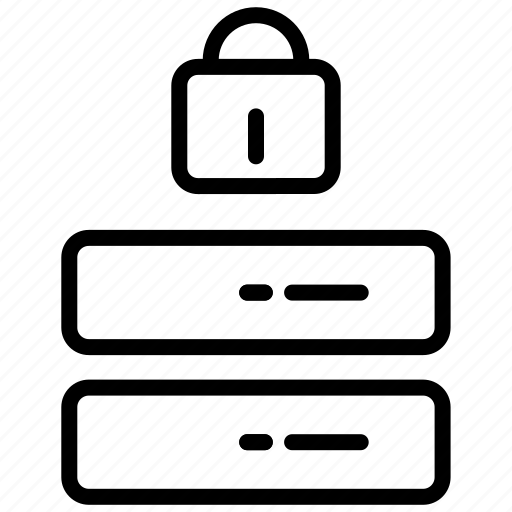 data center, database security, gdpr, locked, privacy, security icon