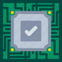 chip, data, internet, privacy, processor, protection icon