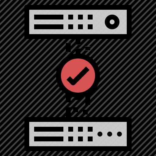 approve, check, data, devices icon