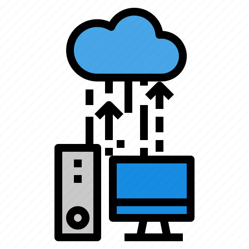 backup, cloud, computer, data icon