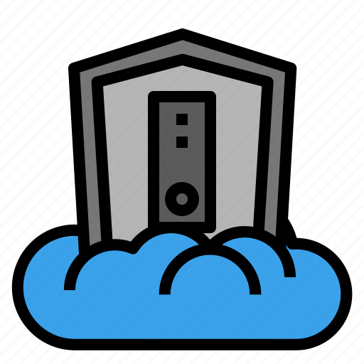 cloud, data, defend, protection, sheild icon