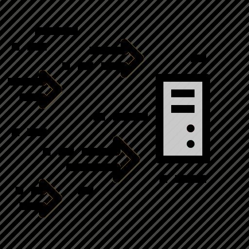 colud, direction, hosting, internet, server, service icon