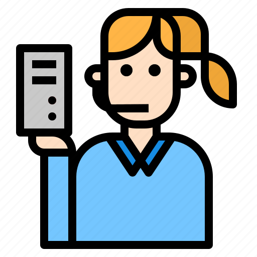 help, person, server, support icon