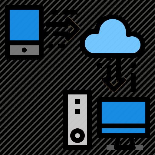 computer, data, mobile, server, storage, transfer icon