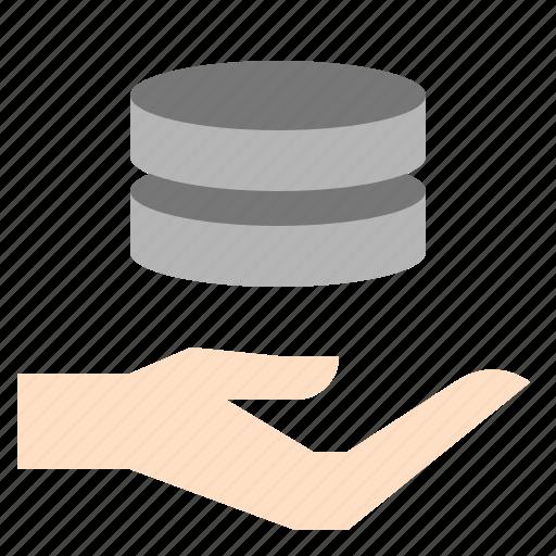 data, maintenance, operation, server icon