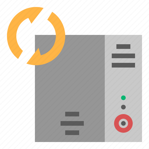 database, generate, hosting, refresh, server, storage icon