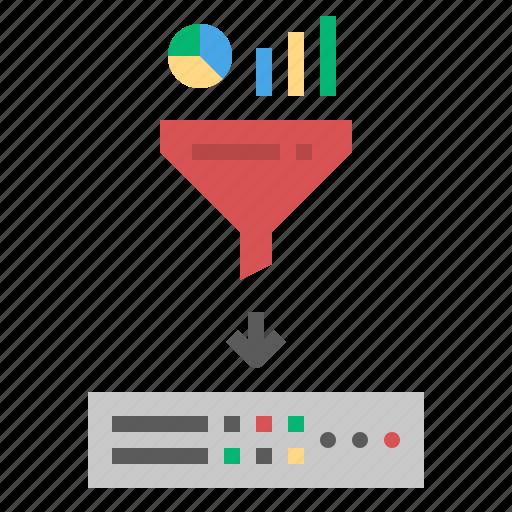 datafilter, filter, funnel, serer icon