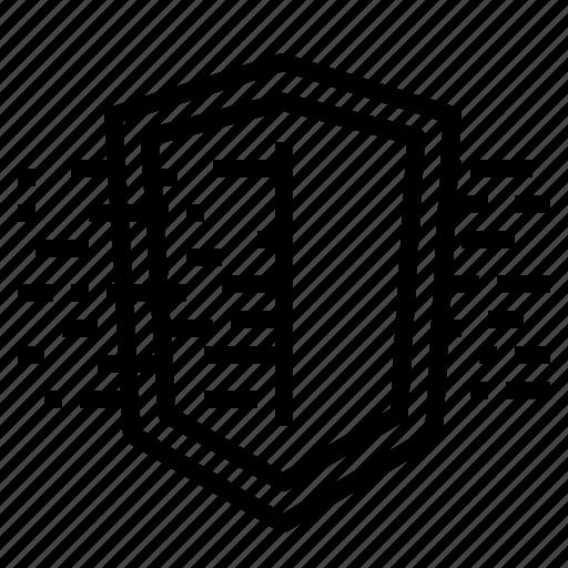 cloud, data, protection, server, sheild icon