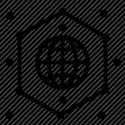 earth, global, network icon