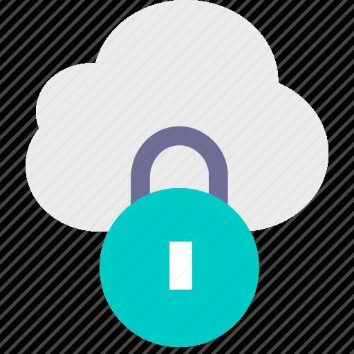 2, cloud, data, lock, personal icon