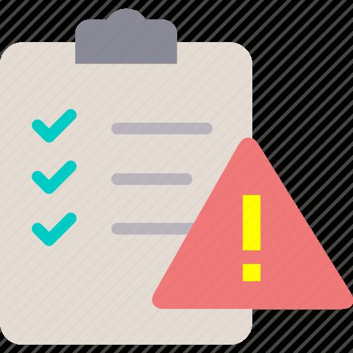 gdpr, governance, list, risk, warning icon