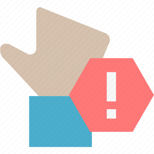 palm, penalties, stop, warning icon