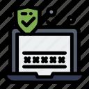 laptop, password, security