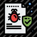 bug, file, folder, security, virus