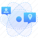 customer, orientation, profile, account, position icon