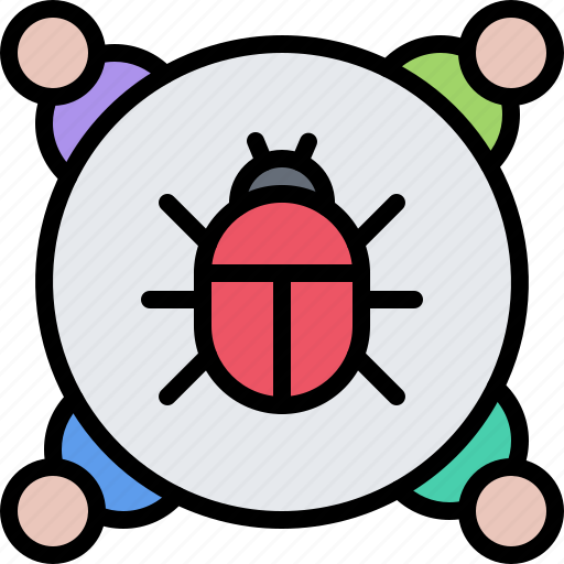 bug, hacker, network, protection, security, virus icon