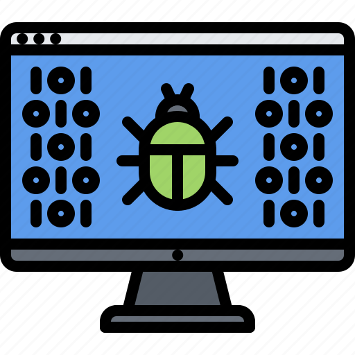 bug, computer, hacker, network, protection, security, virus icon