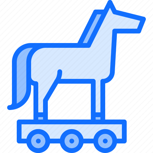 hacker, horse, network, protection, security, trojan, virus icon