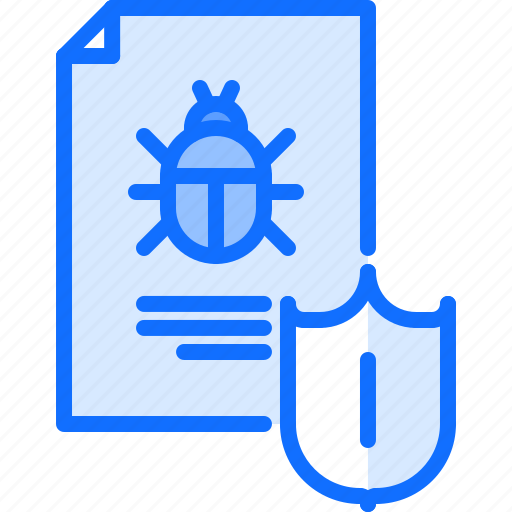 file, hacker, network, protection, security, shield, virus icon