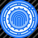 fingerprint, hacker, network, protection, safe, security, vault icon