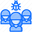 bug, hacker, network, organization, protection, security, virus icon