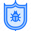 antivirus, hacker, network, protection, security, shield, virus icon