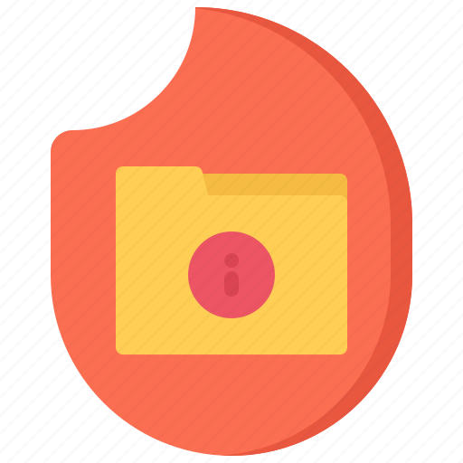 data, fire, folder, hacker, network, protection, security icon