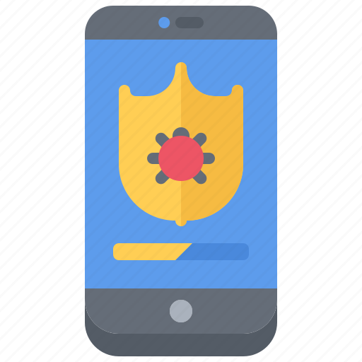 Antivirus, hacker, network, phone, protection, security, shield icon - Download on Iconfinder
