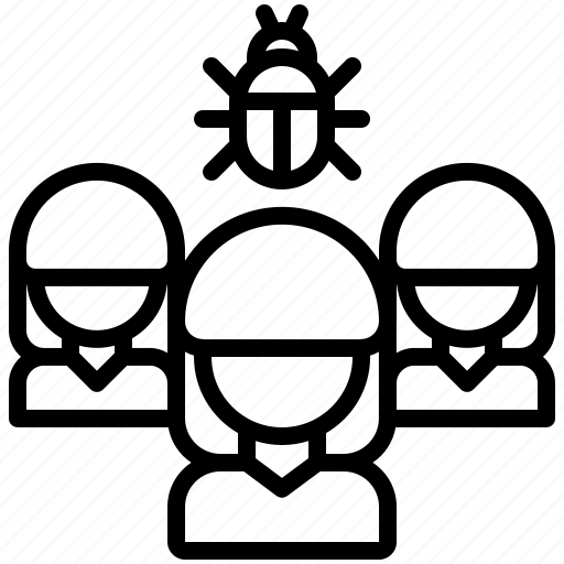 bug, hacker, network, organization, protection, security, virus icon
