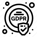 compliance, eu, gdpr, security icon