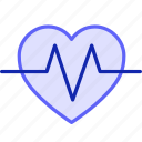 data, science, icon, heart, lifeline, status, beating