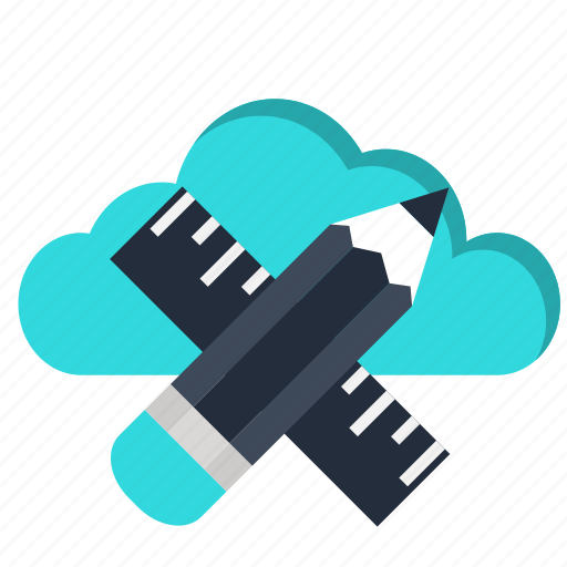architecture, cloud, computing, design, processing, ruler, web icon