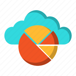 backup, cloud, graph, information, report, reporting, storage icon