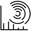 analytics, data visualization, presentation, sales forecast, statistics icon