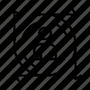 arrow, path, predication, user icon