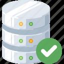 accept, check, data, database, ok, server, success icon