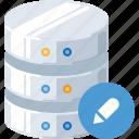 data, database, edit, repair, server, technology, tool icon