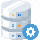 database, device, gear, server, settings, storage, technology icon