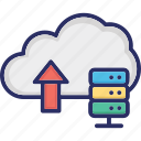 cloud storage, data storage, data uploading, storage, uploading icon