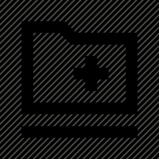 add file, add folder, create folder, folder icon