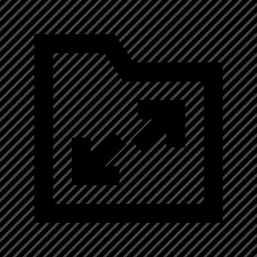 data folder, data storage, document folder, folder, resize folder icon